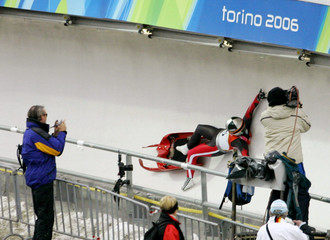 Austria's Manzenreiter crashes during women's singles luge event at the Winter Olympic Games