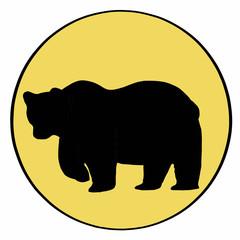 bear shadow icon