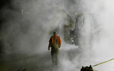 CITY WATER WORKER WALKS IN PLUME OF GAS IN PASO ROBLES.