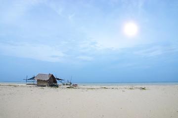 Fisherman's hut on the beach.
