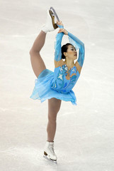 Liu Yan of China performs at the 2009 ISU World Figure Skating Championships in Los Angeles