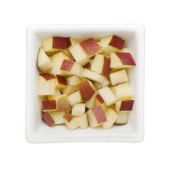 Diced red apple