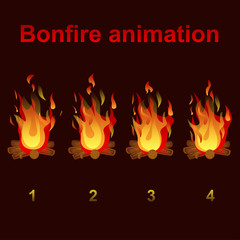 bonfire animation sprites, for game design