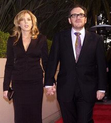 MUSICIAN ELVIS COSTELLO AND HIS WIFE, JAZZ SINGER DIANA KRALL ARRIVE FOR MIRAMAX PRE-OSCAR PARTY IN LOS ...