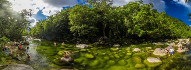 Mossman Gorge, AUSTRALIA - 15 APRIL 2017: Mossman Gorge - river in Daintree National Park, Queensland, Australia