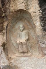 Buddha stone carving.