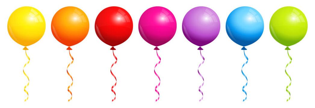 Round Rainbow Balloons