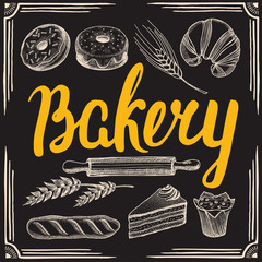 Bakery poster for restaurant.