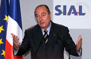 FRENCH PRESIDENT JACQUES CHIRAC MAKES SPEECH AT SIAL.