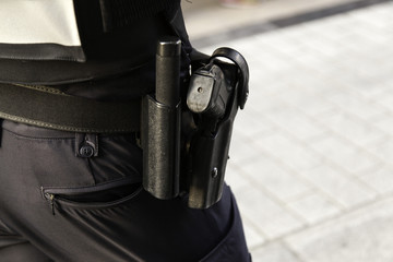 Police pistol and fucking