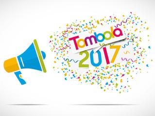mégaphone : tombola 2017