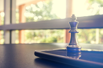 silver chess with leadership business