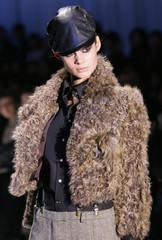 Model displays Objetstandard outfits in Tokyo