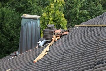 Arbeit auf dem Dach