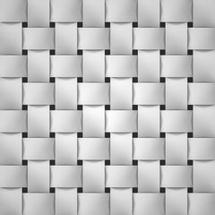 Volume realistic texture, wicker gray background, 3d geometric pattern, design vector