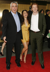 """Stars of the NBC show """"Life,"""" Sarah Shahi, Adam Arkin and Damian Lewis arrive to attend the NBC Network upfronts in New York"""