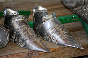 the iron shoes of the knight