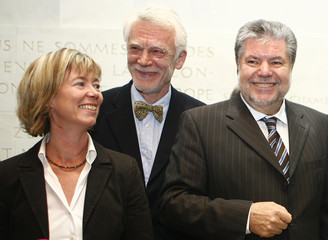 Zoellner, Berlin's new senator for science and education attends a news conference in Mainz