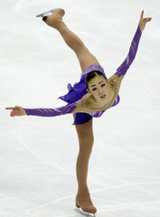 Japan's Suguri competes in the Ladies Free Programme at the ISU Grand Prix of Figure Skating Cup of Russia in Moscow