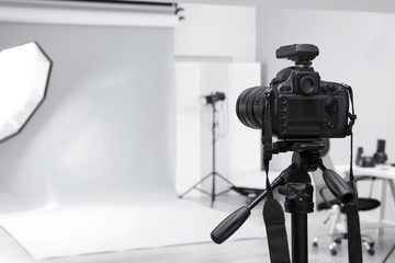 Modern photo studio with professional equipment Wall mural