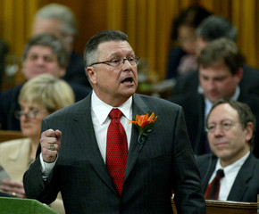 CANADIAN FINANCE MINISTER GOODALE DELIVERS FEDERAL BUDGET.