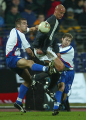 JOHNSSON AND THORSTEINSSON OF FAROE ISLANDS CHALLENGE JANCKER OFGERMANY IN HANNOVER.