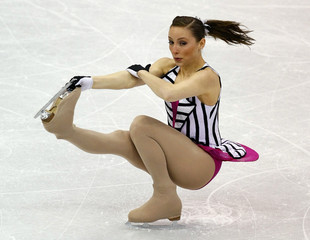Ana Cecilia Cantu of Mexico performs at the 2009 ISU World Figure Skating Championships in Los Angeles