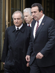 Bernard Madoff leaves the Manhattan federal courthouse in New York