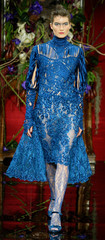 British designer Julien Macdonald for French fashion house Givenchy presents this creation as part o..