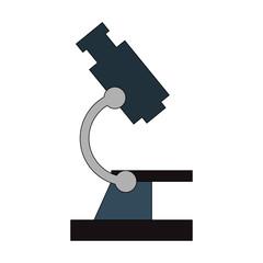 color image cartoon microscope science tool vector illustration