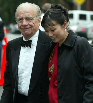 Rupert Murdoch and his wife Wendy Deng arrive at Gracie Mansion in New York for the [wedding of form..