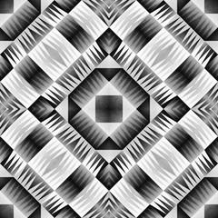 Ethnic Tribal Aztec Seamless Pattern. Geometric Ornamental illustration. Black and White Stylish Texture