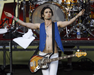 Lead vocalist Tyson Ritter of The All-American Rejects performs at the 2009 Wango Tango concert in Irvine
