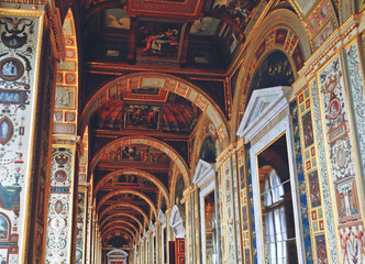 Raphael Loggias in The State Hermitage Museum or the Winter Palace, a former residence of Russian emperors in Saint Petersburg, Russia - July 2016