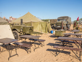 Military camp canteen