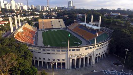 Papiers peints Stade de football Foto Aérea Estádio Pacaembu