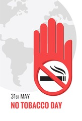 May 31st World no tobacco day poster. Vector illustration