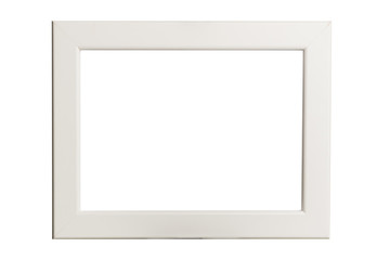 Isolated white picture frame