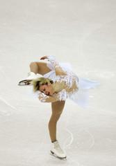 Ukraine's Galina Maniachenko performes her women short programme competition of the European figure ...