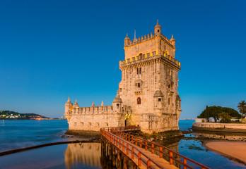 Belem Tower in Lisbon Portugal at Sunrise