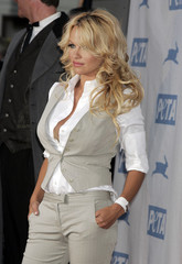 Actress Anderson at the 25th anniversary gala of PETA in Hollywood.