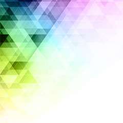 Abstract colorful vector triangles geometric background.