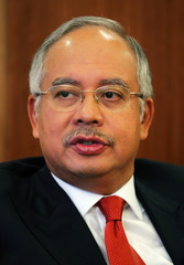 Malaysian Deputy Prime Minister Najib Razak speaks to Reuters in Kuala Lumpur June 21, 2005. [Malays..