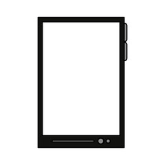 color image tech tablet device vector illustration
