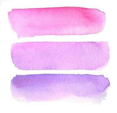 Beautiful watercolor design elements.