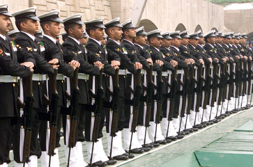 NAVY OFFICERS ATTEND CEREMONY MARKING THE 54TH ANNIVERSARY OF THE ASSASSINATION OF MAHATMA GANDHI IN ...