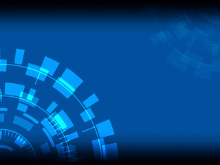 Technological abstract image, concentration and rotation, - Illustration