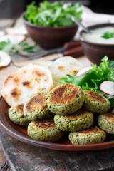 Chickpea falafel, national Arabic food