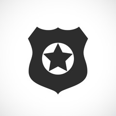 Policeman badge vector icon