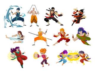 anime superhero characters powerful hero warriors